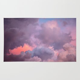 Pink and Lavender Clouds Rug
