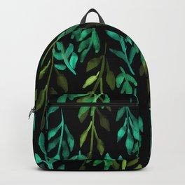 180726 Abstract Leaves Botanical Dark Mode 6|Botanical Illustrations Backpack