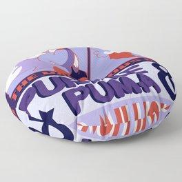 Purple Puma & Tiger Millionaire! Floor Pillow