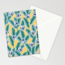 Tropical Banana Leaves Flower Jungle #2 #tropical #decor #art #society6 Stationery Cards