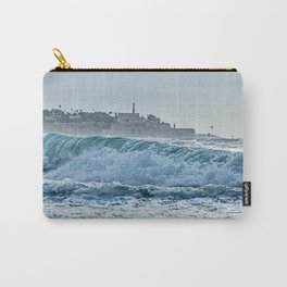 Waveforms on the shores of Tel Aviv Carry-All Pouch