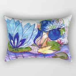 The blue lily water Rectangular Pillow