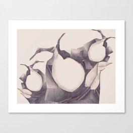 Leafs Collage - Peaches Canvas Print