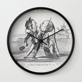 Eh! ben.....camarade....., from En Chine, published in Le Charivari, December 17, 1858,December 17, Wall Clock