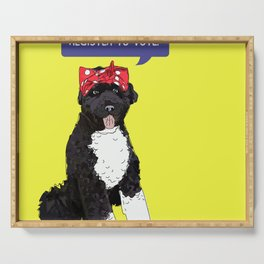 Political Pup - Regiser to Vote Serving Tray