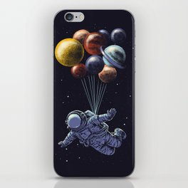Space travel iPhone Skin