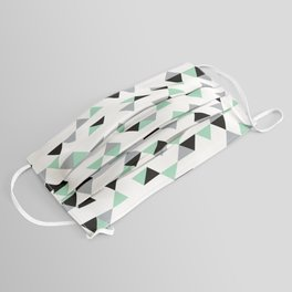Triangles Mint Grey Face Mask