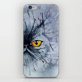 Watecolour cat iPhone Skin