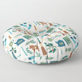 A Very Hygge Holiday Floor Pillow
