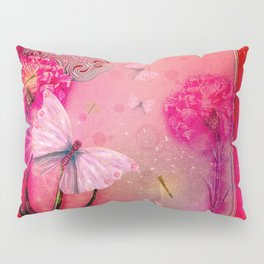 Wonderful butterflies with dragonfly Pillow Sham