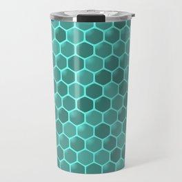 teal  beehive Travel Mug