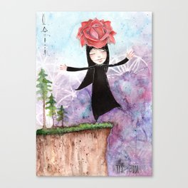 The Fool - Tarot Inspired Watercolor Canvas Print