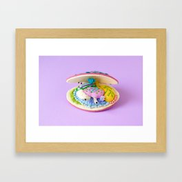 Anatomy of Pink Deep Water Clam Framed Art Print