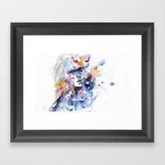 cold crossing Framed Art Print