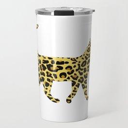 Cheetah cat Travel Mug