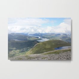A Scottish panorama from Ben Nevis Metal Print