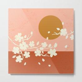 Sakura Blossom Bliss Metal Print