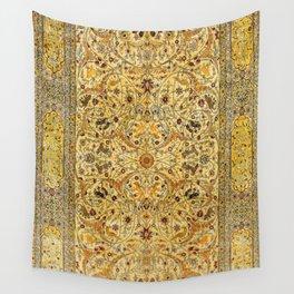Hereke Northwest Anatolian Silk Rug Print Wall Tapestry