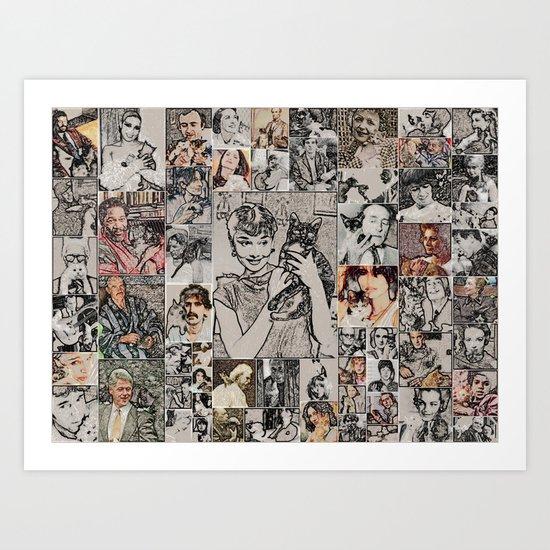Famous Cat Lovers Art Print