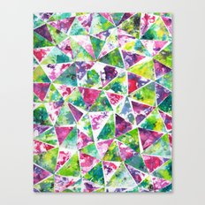 COLLAGE LOVE: Funky Triangles Canvas Print