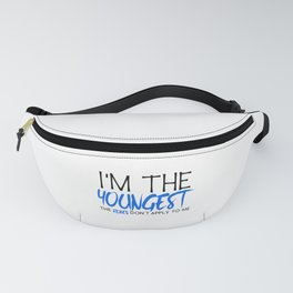 Family Siblings I'm The Youngest Rules Don't Apply to Me Sister Brother Fanny Pack