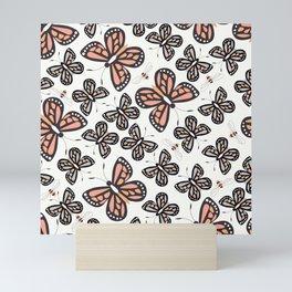 Butterflies and bees 001 Mini Art Print