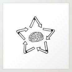 Recyclabrain Art Print