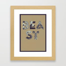 Re:Production Alphabet - Beast Framed Art Print