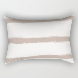 Medium Brush Strokes Horizontal  Nude on Off White Rectangular Pillow