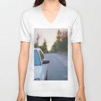 subaru V-neck T-shirts featuring Sunrise by MICHAEL