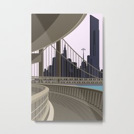 Modern City Blush Sky Metal Print