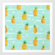 Pineapple Dots  Art Print