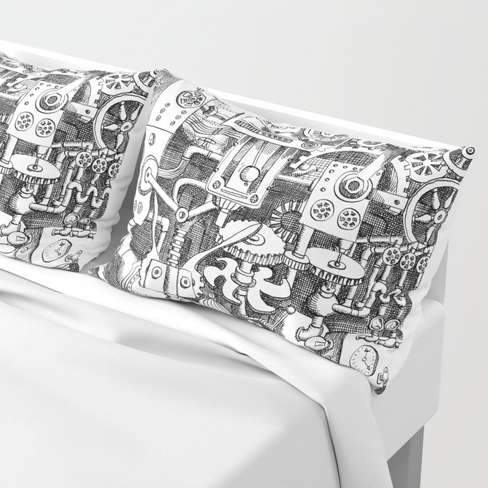 DINNER TIME FOR THE ROBOT Pillow Sham