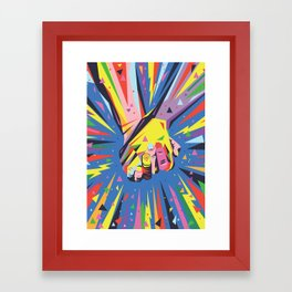 Band Together - Pride Framed Art Print