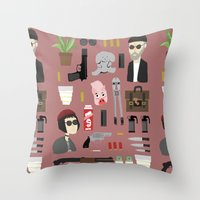 leon Throw Pillows featuring Leon  by Max the Kid