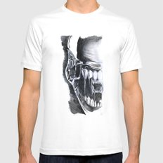 Alien Face. Mens Fitted Tee 2X-LARGE White