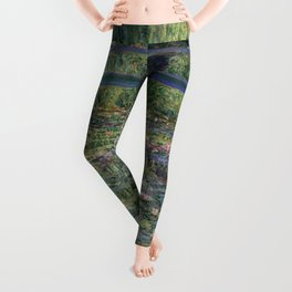 Water Lilies and the Japanese Bridge by Claude Monet Leggings