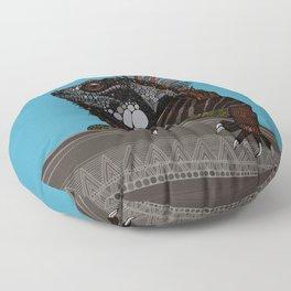 iguana blue Floor Pillow