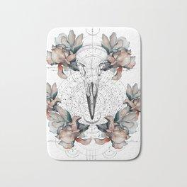 BIRDSKULL & FLOWERS Bath Mat