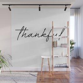 thankful Wall Mural