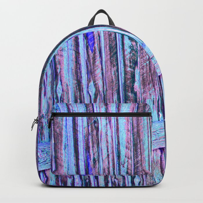 Blue Abstract Fence Backpack