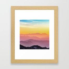 Climb the Rainbow Mountain Framed Art Print