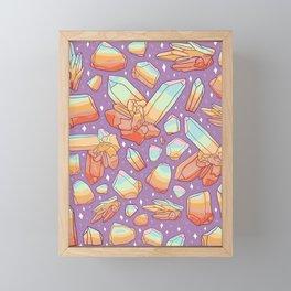 Rainbow Crystal Print Framed Mini Art Print