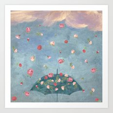 I Wished for a Rose Rain for You Art Print