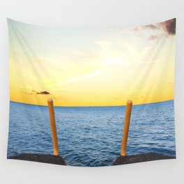 The Sun Sets in the East Tonight Wall Tapestry
