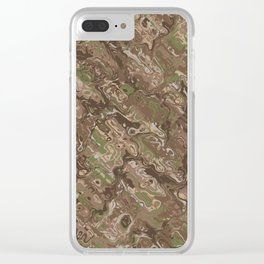 Camo Craze Twist Blur - Traditional Clear iPhone Case