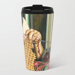 Knitting Waffles Travel Mug
