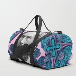 Trippy Haeckel Vibes Under the Sea Duffle Bag