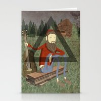 bon iver Stationery Cards featuring Bon Iver by Doug Crookston