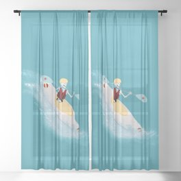 Whitewater Willy Sheer Curtain